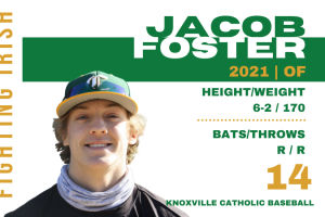 Jacob Foster, class of 2021, KCHS Baseball