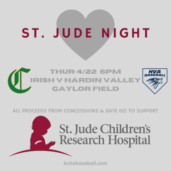 Knox Catholic Baseball supports St. Jude